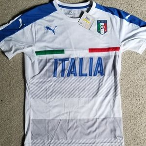 Italia soccer practice jersey. Mens M, White NWT.